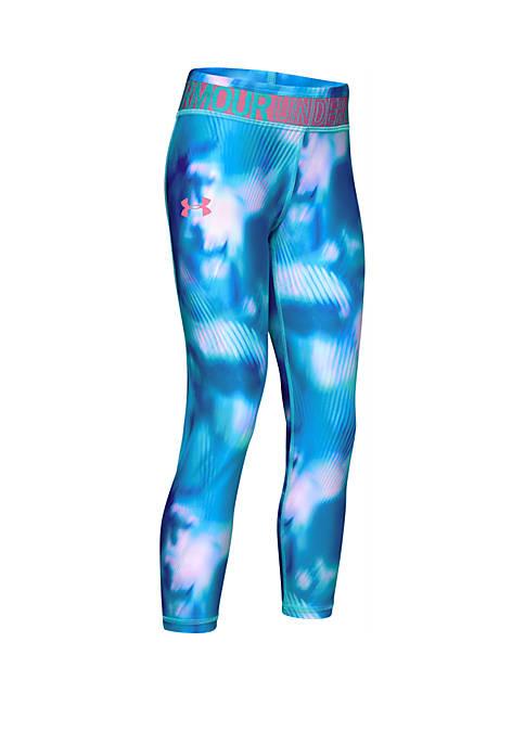 Girls 7-16 HeatGear® Armour Printed Ankle Crop Leggings