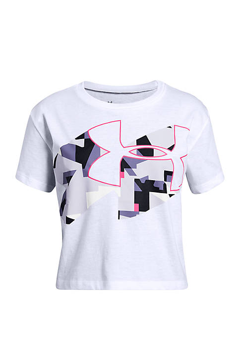 Girls 7-16 Print Fill Logo T Shirt