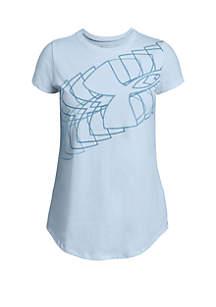 Under Armour® Girls 7-16 Linear Logo Tee