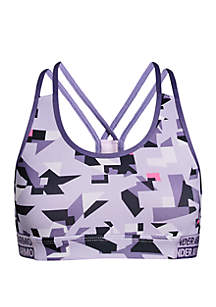 Under Armour® Girls 7-16 HeatGear® Print Sports Bra