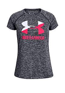 Under Armour® Girls 7-16 Big Logo Twist T Shirt