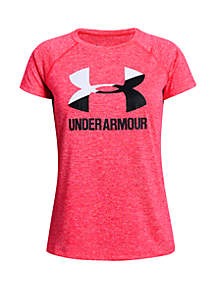 Under Armour® Girls 7-16 Big Logo Twist T Shirt