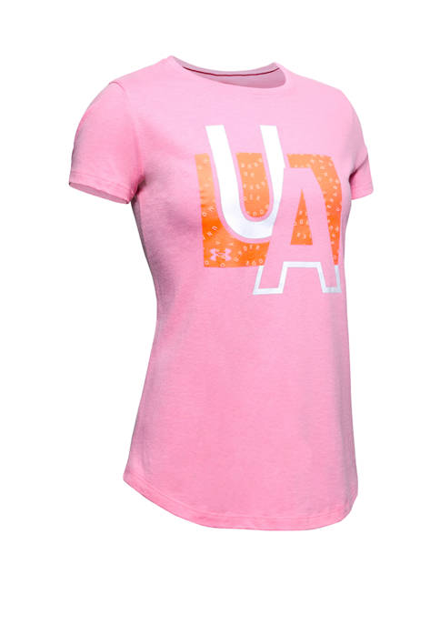 Under Armour® Girls 7-16 Short Sleeve Graphic T-Shirt