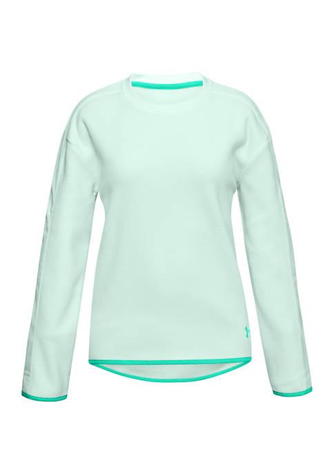 Girls 7-16 Fleece Crew Neck Shirt