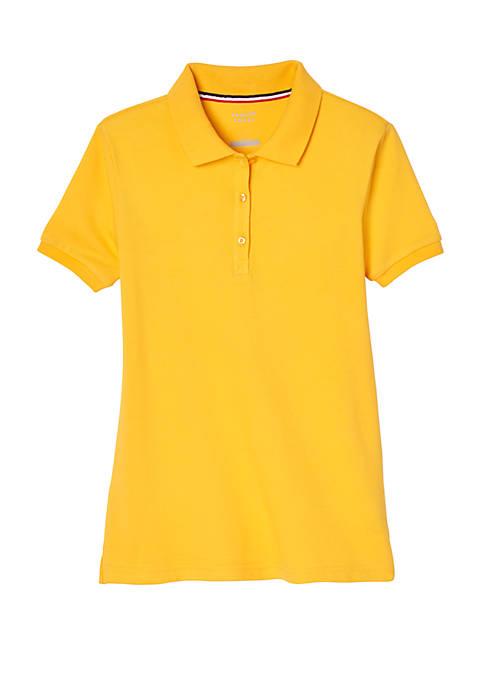 Girls 7-20 Short Sleeve Stretch Piqué Polo Shirt