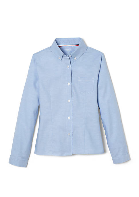 French Toast Girls Long Sleeve Oxford Shirt