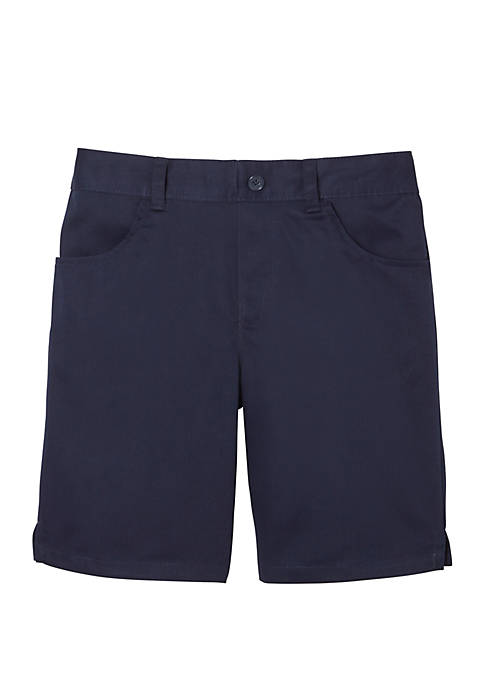 French Toast Girls 7-20 Pull On Twill Shorts