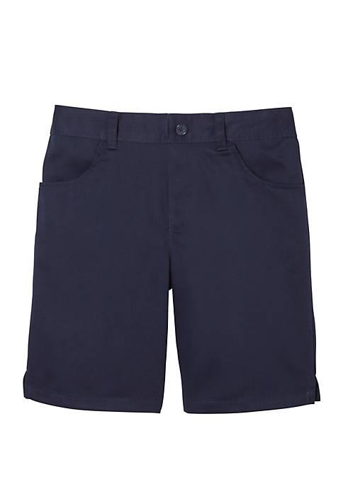 Girls 7-20 Pull On Twill Shorts