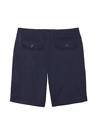 navy French Toast Big Girls Flat Front Twill Bermuda Shorts 20