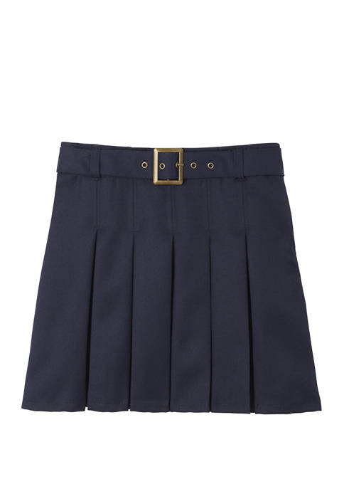 French Toast Girls Adjustable Waist Belted Pleated Scooter