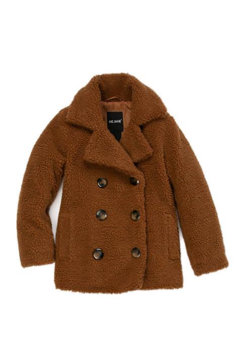 Girls 4-6x Shearling Jacket