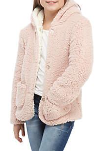 Girls 7-16 Teddy Two-Tone Jacket