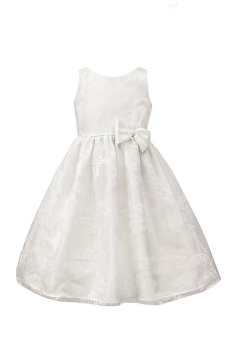 Jayne Copeland Burnout Organza Dress Girls 4-6x