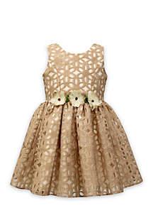 Floral Burnout Dress Girls 4-6x