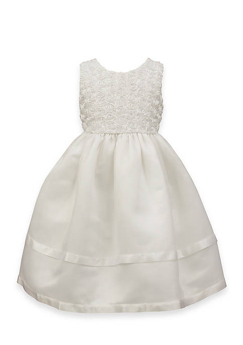 Jayne Copeland Ribbon Soutache Dress with Organza Skirt