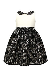 Black and White Dress with Peter Pan Collar Girls 7-16