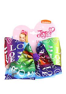 Nickelodeon™ Jojo Siwa Girls Rainbow Metallic Love Print Bow