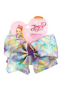 Nickelodeon™ Jojo Siwa Girls Rainbow Splatter Print Bow