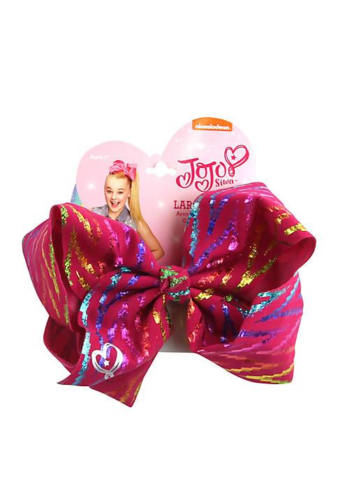 Nickelodeon™ Jojo Siwa Girls Multi Metallic Fuchsia Bow