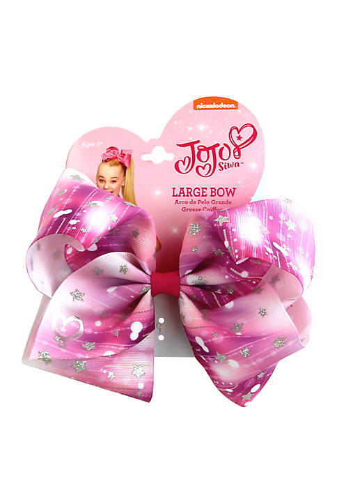 Nickelodeon™ Jojo Siwa Girls Glitter Star Print Bow