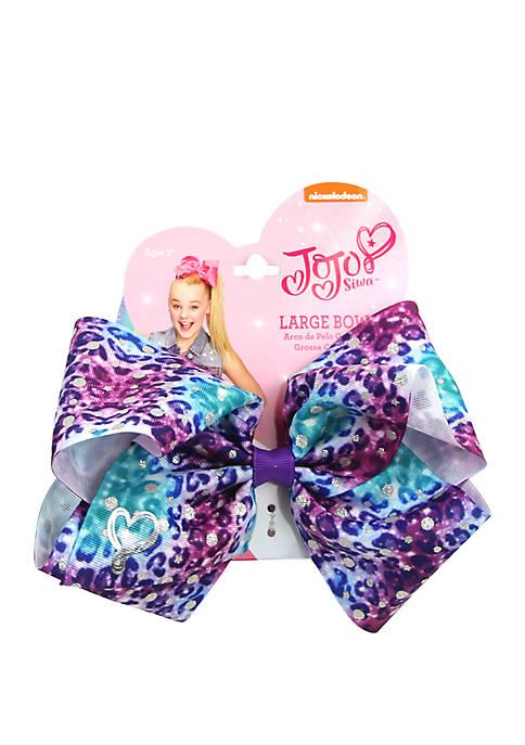Girls Tie Dye Cheetah Bow