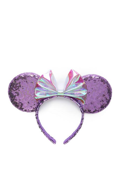 Disney® Girls Purple Minnie Ears with Sequins