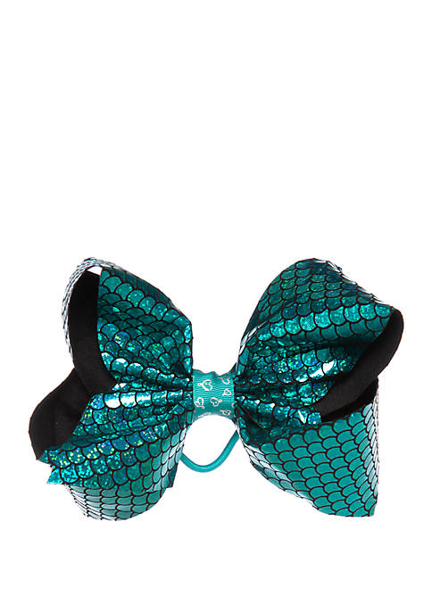 Nickelodeon™ Jojo Siwa Girls Mermaid Scale Sequin Bow