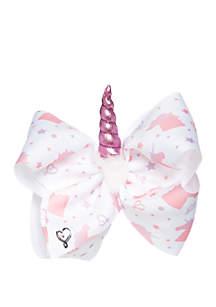 Nickelodeon™ Jojo Siwa Girls White Pink Unicorn Bow