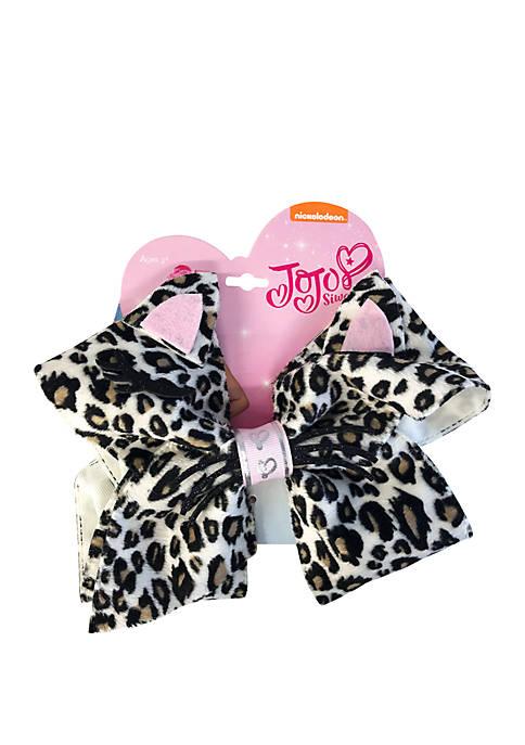 Fantasia Accessories Cat Face Cheetah Print Critter Bow