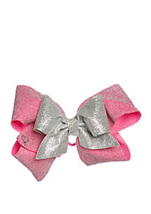 Nickelodeon™ Jojo Siwa Girls Layered Pink Silver Bow