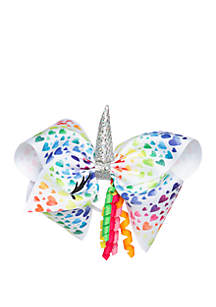 Nickelodeon™ Jojo Siwa Girls Heart Print Unicorn Bow
