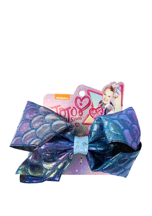 Girls Mermaid Scales Bow
