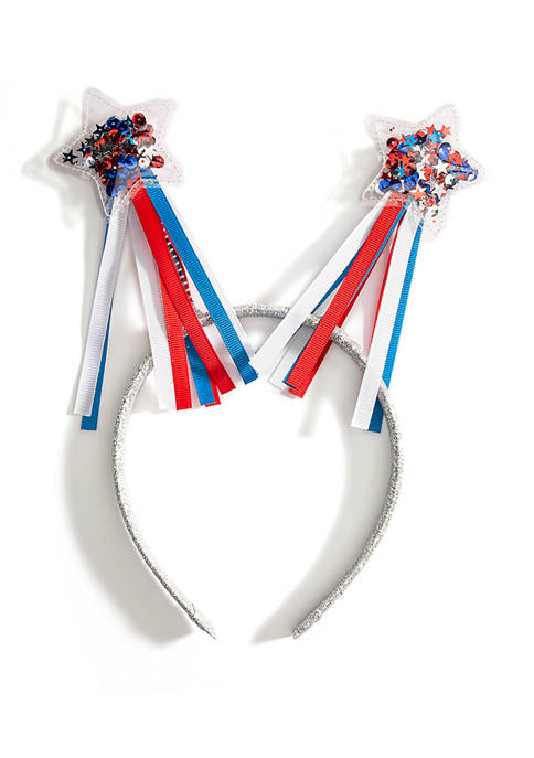 Girls Americana Star Shaker Headband