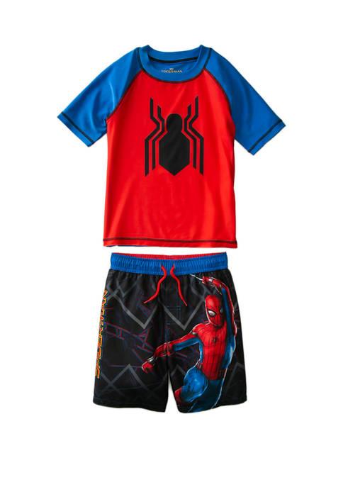 Marvel™ Spider-Man Boys 4-7 Spider-Man 2 Piece Rashguard