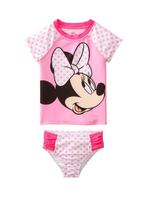 Disney® Toddler Girls Minnie Mouse Swim Rash Guard