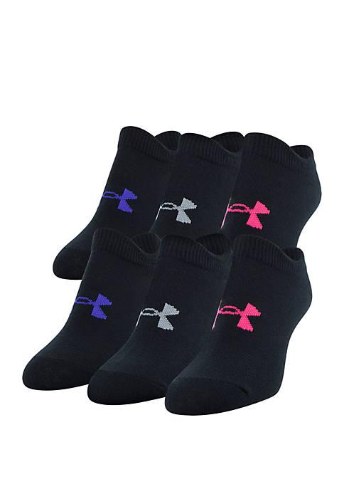 Under Armour® Girls Essential 2.0 No Show Socks