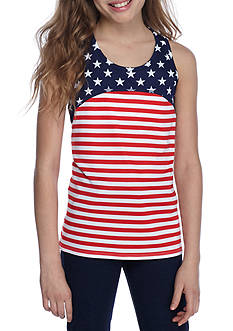 JK Tech® Stars And Stripes Tank Top Girls 7-16