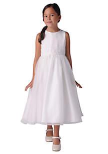 3ec826015ad75 ... Us Angels Flower Girl Beaded Sash Organza Dress- Girls 7-16