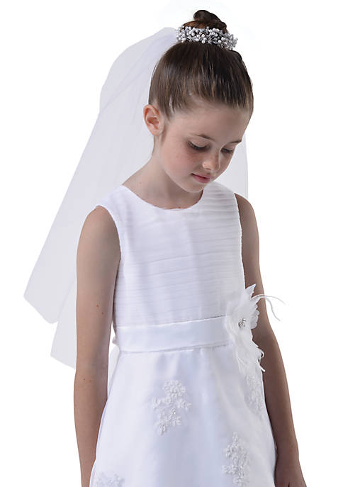 Us Angels Bun Wrap with Veil Girls 4-16