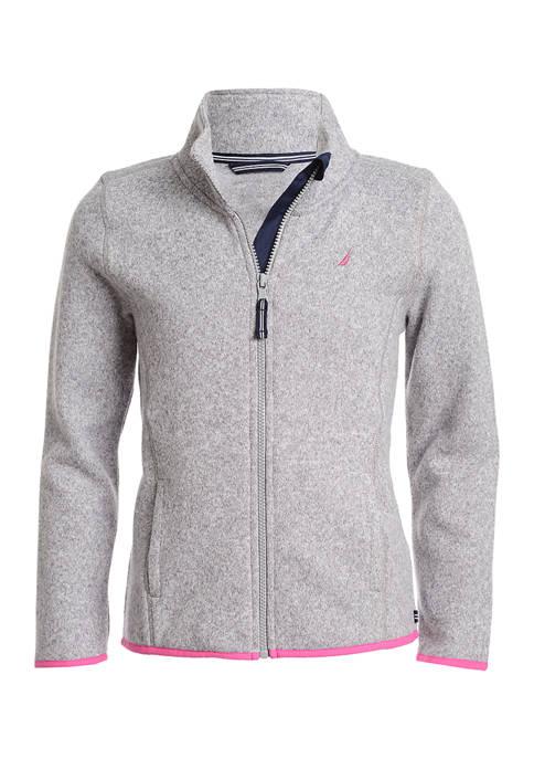 Nautica Girls 4-6x Sweater Fleece Jacket