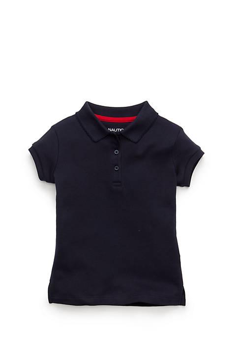 Nautica Uniform Polo Girls 4-6x