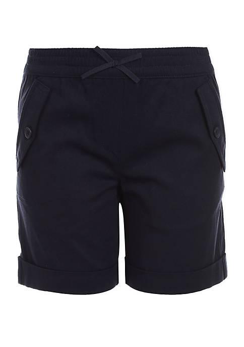 Nautica Girls 4-6x Cotton Pull On Shorts