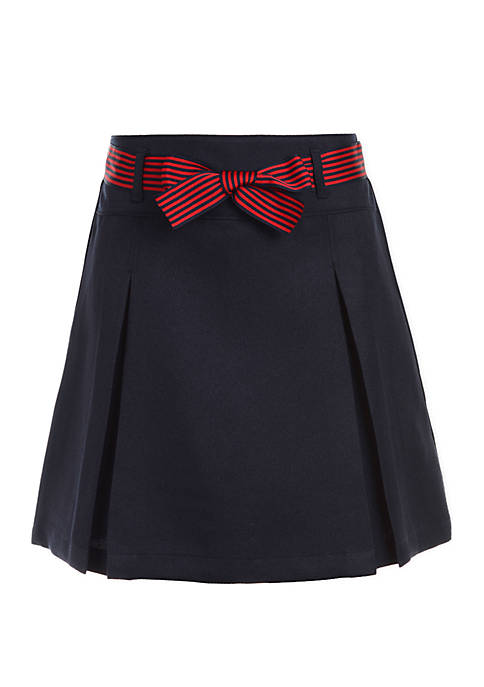Nautica Girls 4-6x Pleated Scooter Skort with Bow