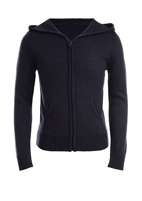 Nautica Girls 7-16 Hooded Sweater with Pockets