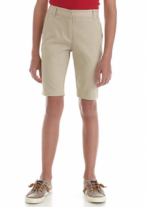 Nautica Girls 7-16 Uniform Shorts