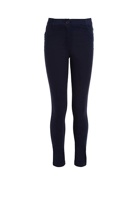 Nautica Girls 4-6x Stretch 5 Pocket Sateen Pants