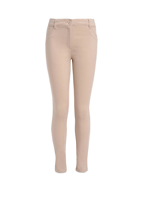 Girls 7-16 Sateen Stretch 5 Pocket Pants