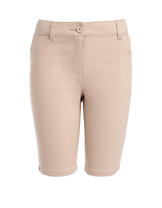 Khaki//Sateen Nautica Girls Big School Uniform 5-Pocket Twill Bermuda Short 7