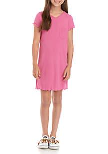 love, Fire Girls 7-16 Short Sleeve Rib Knit Dress