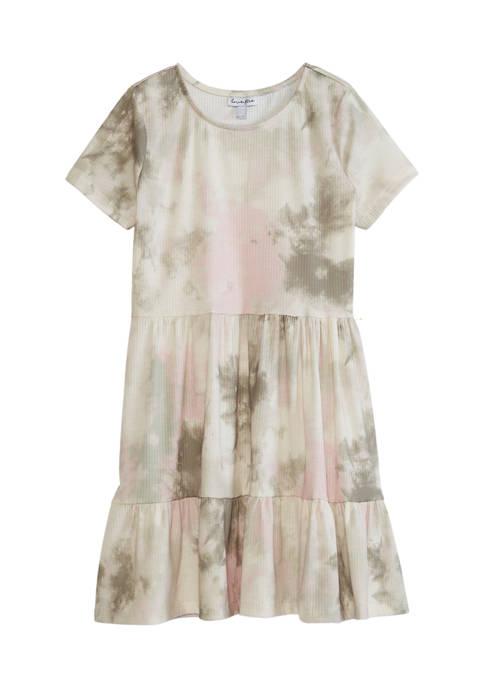 love, Fire Girls 7-16 Short Sleeve Babydoll Dress